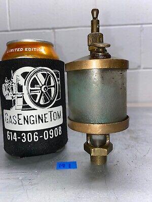 Essex Brass Co. Cylinder Oiler Hit Miss Gas Engine Steampunk Vintage Antique