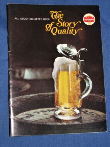 Rare Schaefer Beer Booklet-The Story of Quality