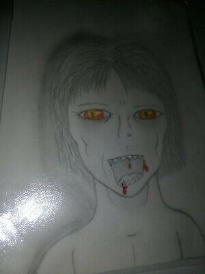 A ORIGINAL HORROR A4 DRAWING CALLED HORROR OF THE FACE - The Face Of Halloween