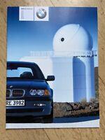 Original Prospekt BMW 3er E46 Limousine 316i-330d 2000 Bayern - Johannesberg Vorschau