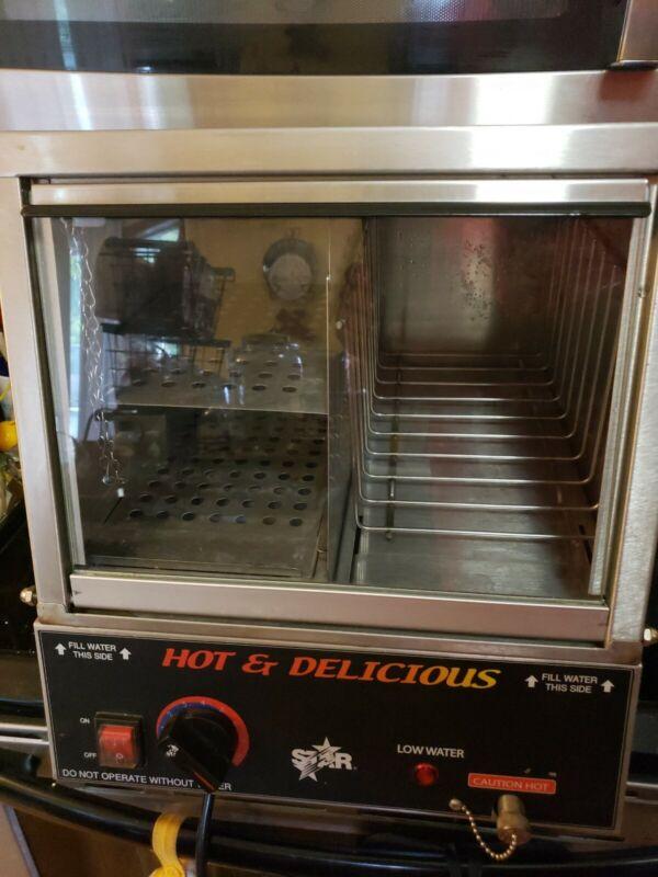 Star Model 35SSA Hot Dog & Bun Steamer Cooker Counter Top Display