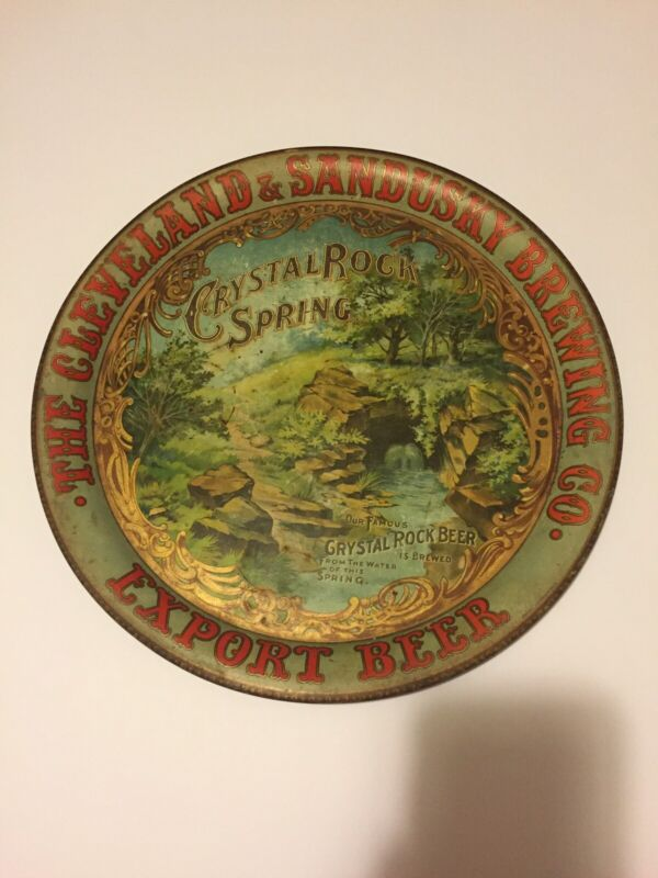 The Cleveland & Sandusky Brewing Company Beer Tray - Antique RARE