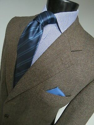 Luciano Barbera St Andrews Tweed Hand finished side vented sport coat 44 R