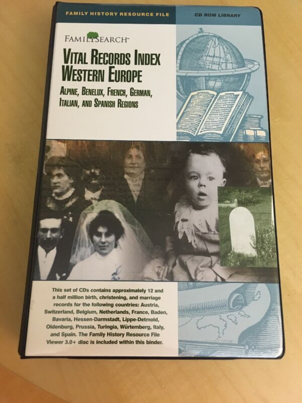 FamilySearch Vital Records Index Western Europe CD Rom Set