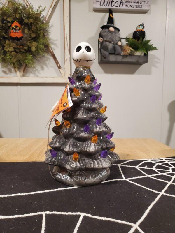 Disney Nightmare Before Christmas Ceramic Tree Jack Skellington Halloween 11 in.