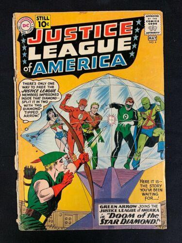 Justice League of America #4 (1st Series) DC Comics April 1961 Green Arrow Joins