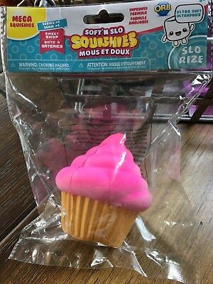 SOFT N SLO Mega Squishies PINK Cupcake Series 1 Slo Rize ORB Sweet Shop NEW