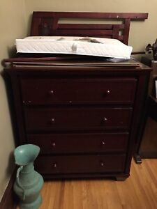 Dresser, crib, change table combo - will deliver