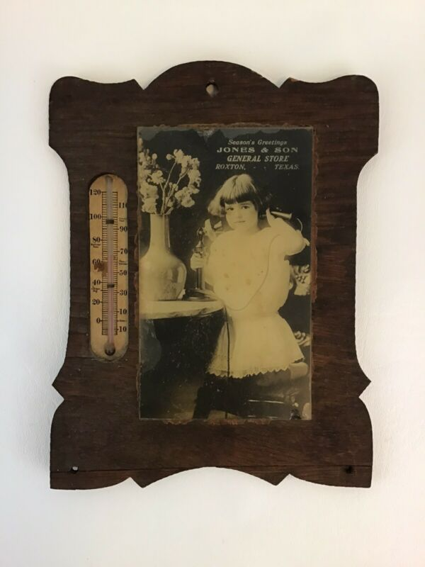 General Store Roxton Texas Thermometer Advertising 1910