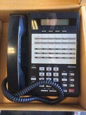 Black Fully Refurbished Nitsuko 92783 34-Button Speaker Display Phone