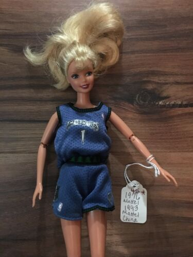 1993 Vintage NBA Barbie Minnesota Timberwolves Blonde  - $34.95