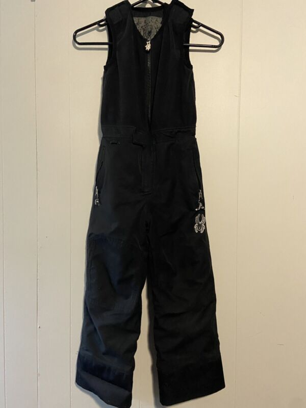 Spyder Boys Size 6 Bibs Snow Pants Black