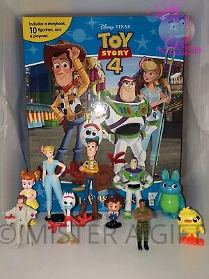 Disney Pixar Toy Story 4 BUSY BOOK - STORY 10 FIGURES FREE P+P - UK STOCK