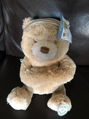 Baby Gund Plush White Prayer Teddy Bear Sing Talk Lullaby Stuffed Lovey New NWT