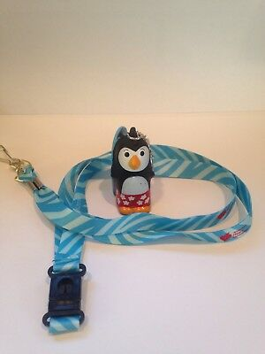 American Heart Association Zoo Crew Key Chain Chill The Penguin With Lanyard