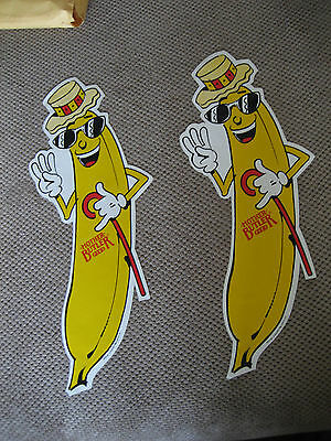 1988 Dennys Restaurant Window Display Mother Butler Pies Banana X2   16  Tall