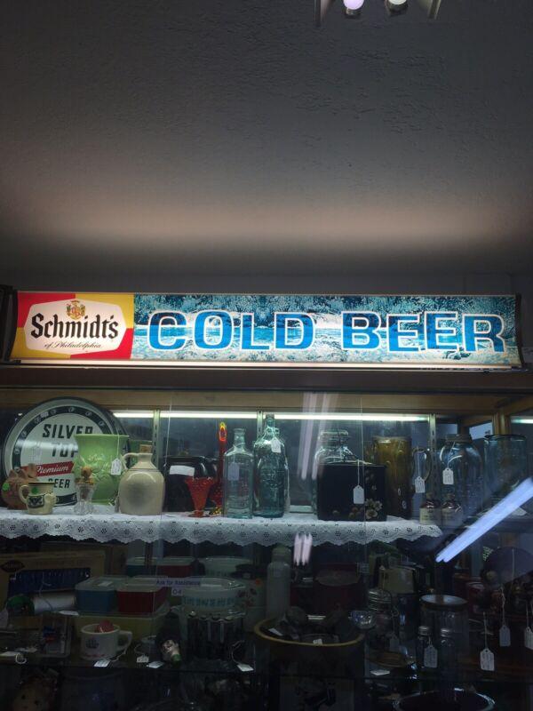 Schmidts Lighted Beer Sign Vintage