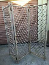 Old Bamboo Folding Screen Beckenham Gosnells Area Preview
