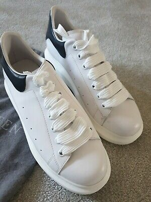 BNIB WOMENS ALEXANDER MCQUEEN PELLE LARRY WHITE LEATHER SNEAKERS UK SIZE 6 / 39