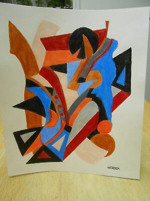 ORIGINAL ABSTRACT COLORED PENCIL DRAWING