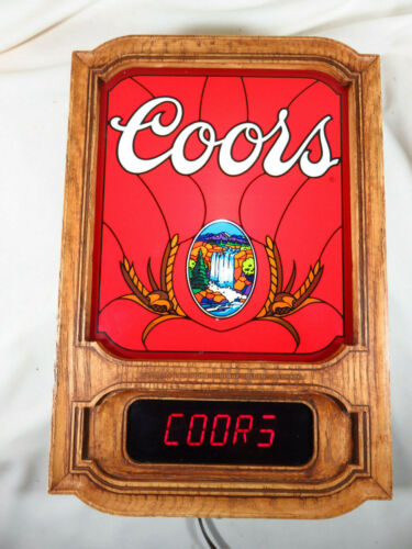 Vintage 1981 COORS Beer Lighted Waterfall Digital Wall Bar Message Motion Sign