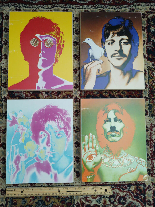 Iconic Psychedelic Poster Set of The Beatles Photographed by Richard Avedon