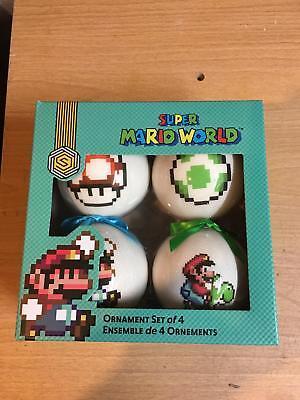 Super Mario World Nintendo Ornament Set Of 4