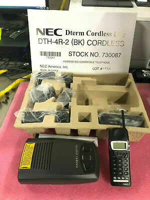 New In Box Nec Dth-4r-2 Cordless Telephone Set 730087 90 Day Warranty