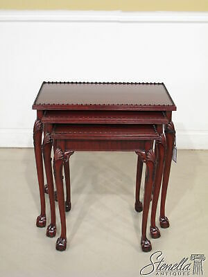 L20869: Ball Claw Chippendale Classic Mahogany Nesting Tables ~ FREE SHIP ~ New