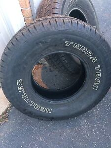 2 almost brand new Hercules truck tires