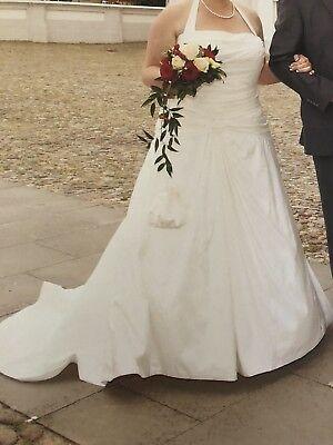 Brautkleid Hochzeitskleid champagner Lilly Brautmoden Gr. 46 - 50 & viel Zubehör