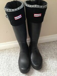 Tall black hunter boots size 9