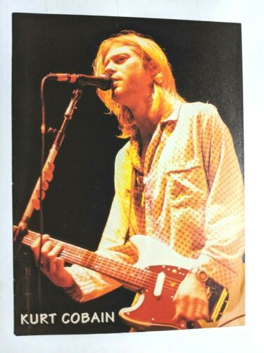 NIRVANA / KURT COBAIN & COURTNEY LOVE / MAGAZINE FULL PAGE PINUP POSTER CLIPPING