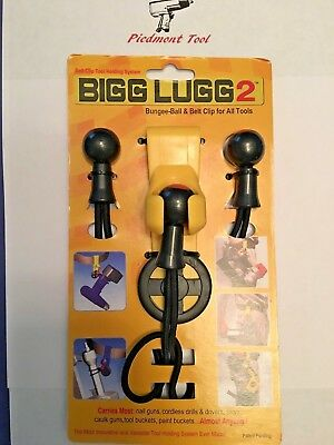 Original Bigg Lugg 2 -Belt Clip Tool Holder System w/3 Ball Bung, Part # BL2-3BM
