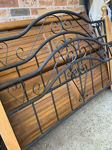 Timber and metal Double bed with mattress