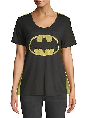 Womens Batman Shirt With Cape (Batman Junior t shirt with 2 removable)