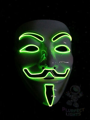 Guy Fawkes Vendetta Anonymous GREEN Rave Festival Party Halloween Costume Mask!
