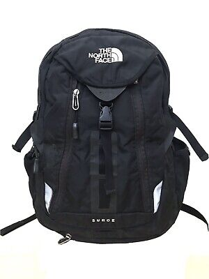 North Face Surge Backpack Teal Hiking Outdoors Daypack Bag Green Olive