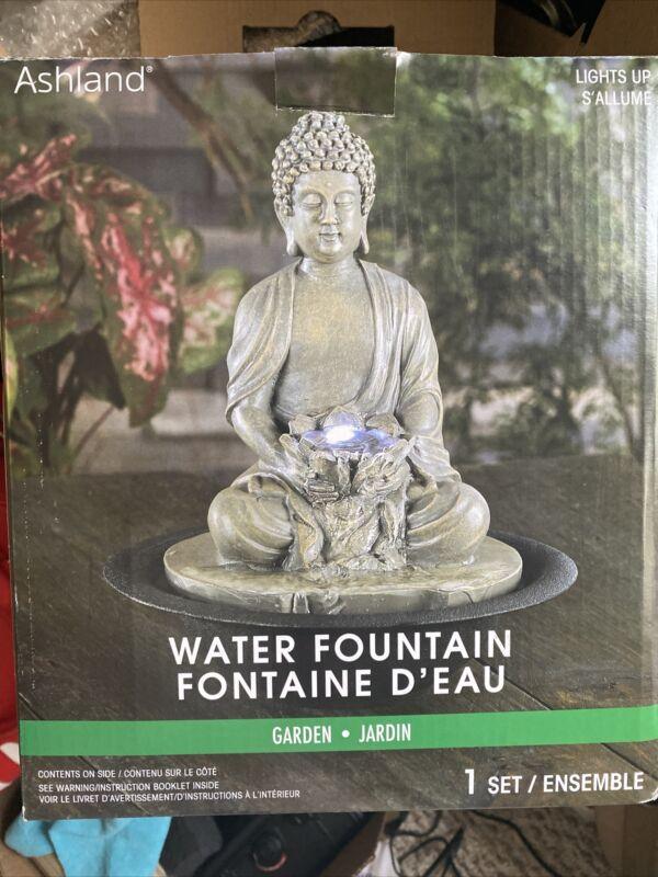 NEW!! Zen Water Fountain Buddha Electric Tabletop Meditation Calming Waterfall