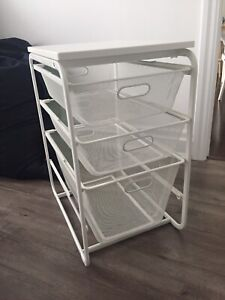 ALGOT Stand with top & 3 mesh baskets clothes organizer
