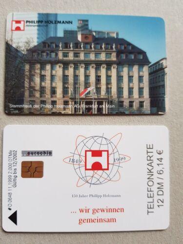 Telefonkarte 12 DM/6,14€ Philipp Holzmann Unbenutzt Sammelkarte Eurochip Neu