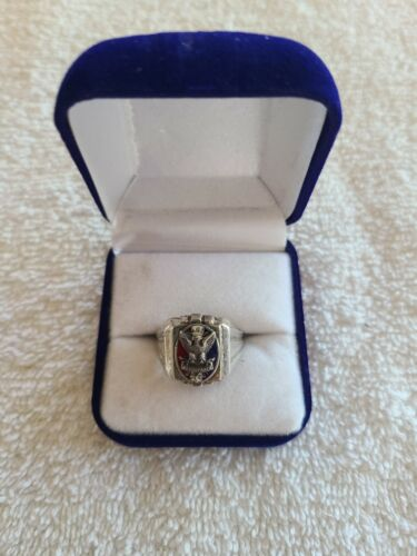 Boy Scouts of America Sterling Silver Eagle Scout Ring Size 9 BSA Great Gift