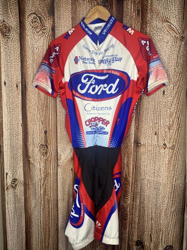 Ford Cycling Bib Voler Large Red Blue White Specialized
