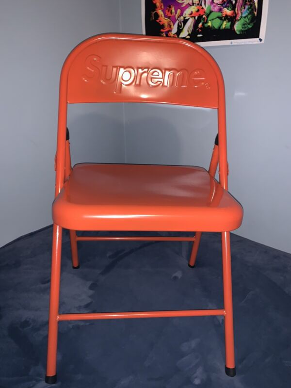 Supreme Metal Folding Chair Red IN HAND (Free Fast Shipping) *NEW*