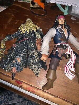 Pirates of the Caribbean Davy Jones & Jack Action Figure Used Toy](Pirates Of The Caribbean Jones)