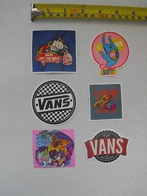 "Skateboard/BMX/Street-Hip-Hop 6 x Individual VANS off the Wall"" STICKERS refV13"