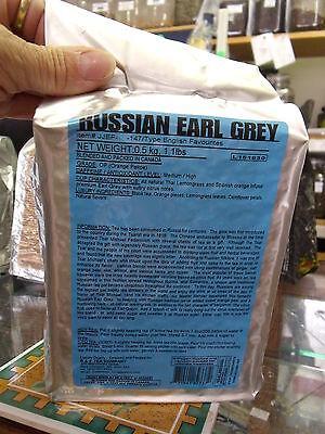 RUSSIAN Earl Grey Loose Leaf Black Tea (1/4 - 1.1 lbs) Vacuum Sealed -