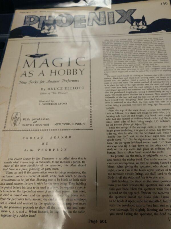 Bruce Elliott & Walter Gibson The Phoenix #150 J.G. Thompson Pocket Seance 1948
