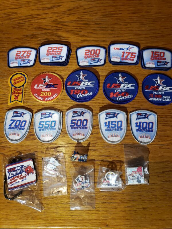 USBC Youth Bowling badges and pins