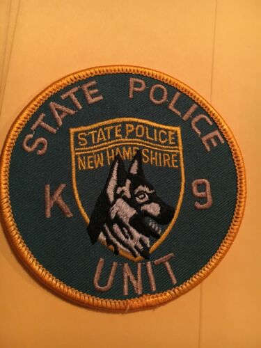 New Hampshire State Police Canine Unit Vintage Police Patch  K-9